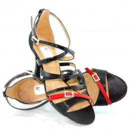 """Chaussure de danse """"Lola Noire et rouge"""" Oobashoo"""