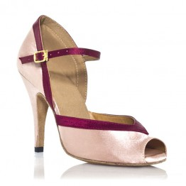 "Chaussure de danse Label Latin""Florence"" rose bordeau"
