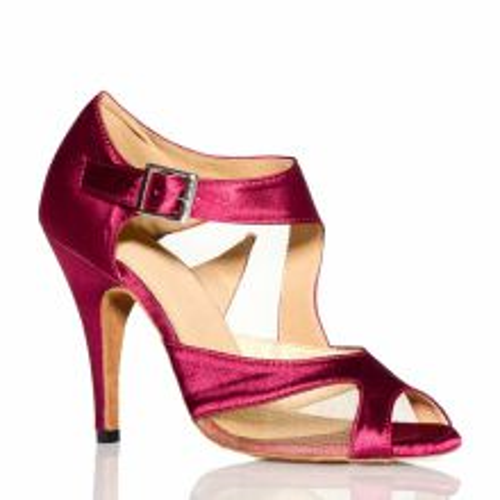 """Chaussures de danse salsa Label Latin """"Monica bordeaux"""""""
