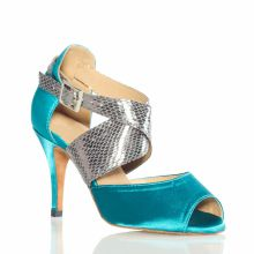 Chaussures de danse salsa Label Latin turquoise