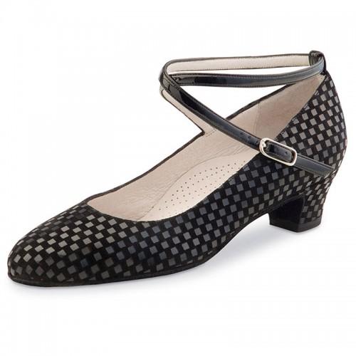"Chaussures de danse Werner Kern ""Alice"" 3,4 cm daim noir"