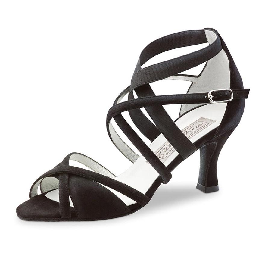 "Chaussures de danse Werner Kern ""Elsa"" 6,5 cm daim noir"
