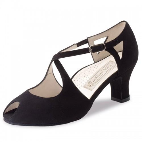 "Chaussures de danse Werner Kern ""Georgia"" 6 cm daim noir"