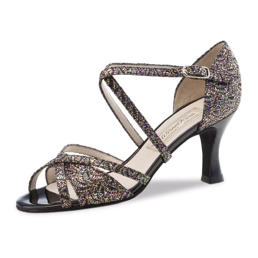 "Chaussures de danse Werner Kern ""July"" 6,5 cm broca multicolore"