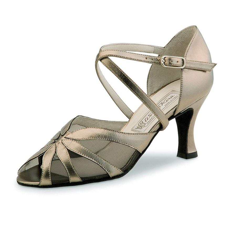 """Chaussures de danse Werner Kern """"Lyz"""" 6,5 cm cuir Or"""