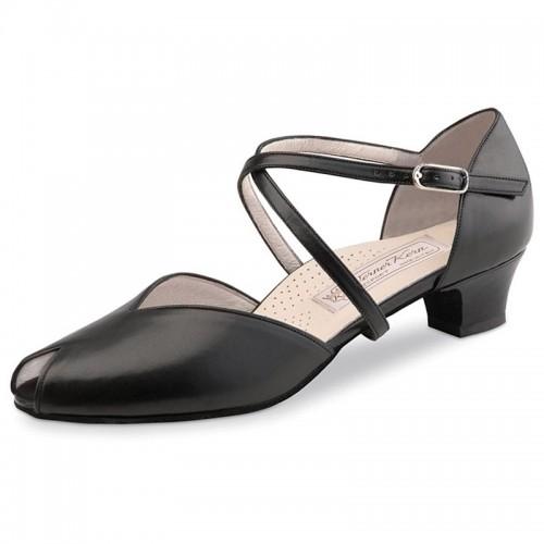 "Chaussures de danse Werner Kern ""Rachel"" 3,4 cm cuir noir"