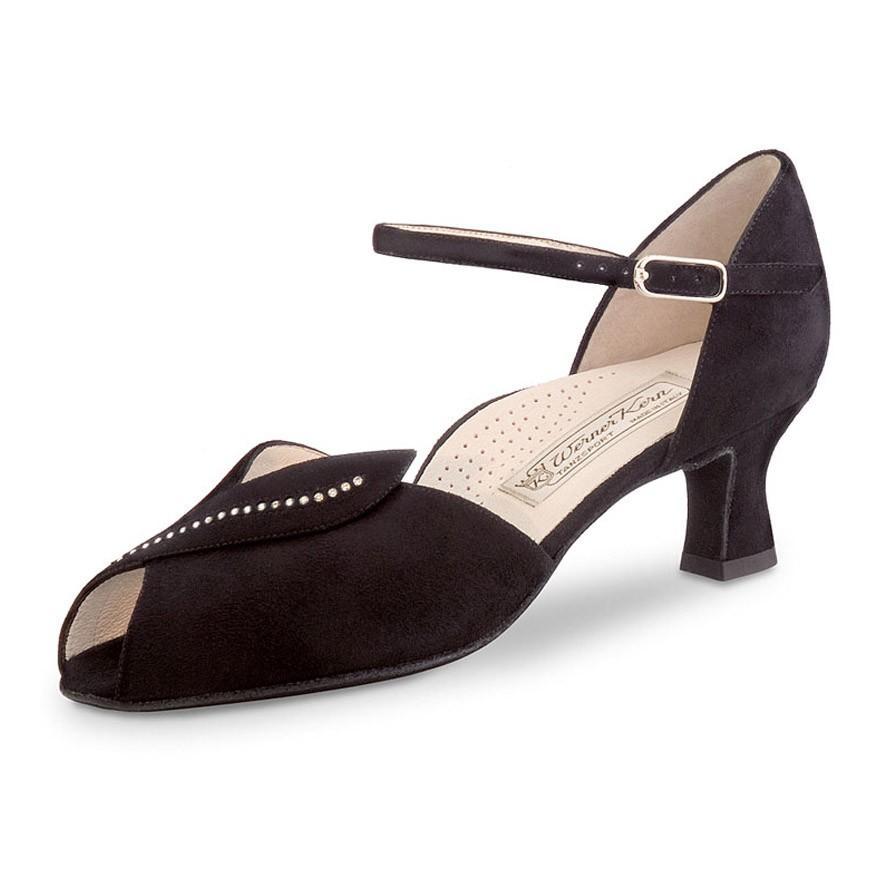 """Chaussures de danse Werner Kern """"Ilona"""" 5 cm daim noir"""