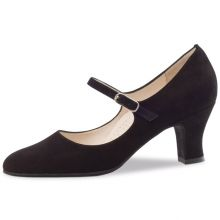 "Chaussures de danse Werner Kern ""Ashley"" 6 cm daim noir"