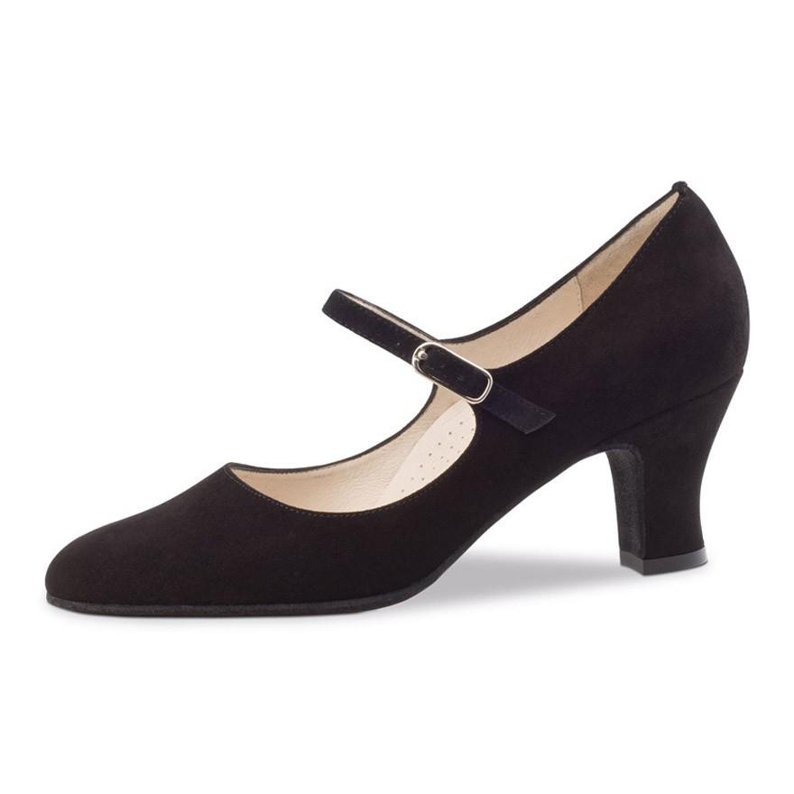 "Chaussures de danse Werner Kern ""Ashley"" 6 cm daim noir"