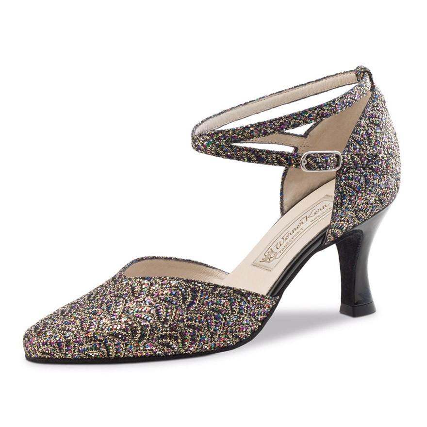 "Chaussures de danse Werner Kern ""Betty"" 6,5 cm broca multicolor"