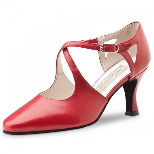 """Chaussures de danse Werner Kern """"Ines"""" 6,5 cm cuir rouge"""