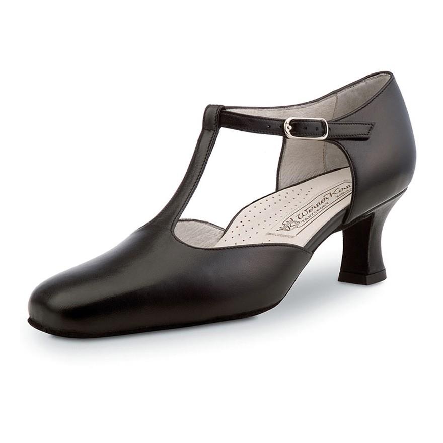 "Chaussures de danse Werner Kern ""Betty"" 6,5 cm cuir rouge"