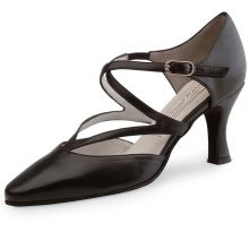 "Chaussures de danse Werner Kern ""fabiola"" 6,5 cm cuir noir"