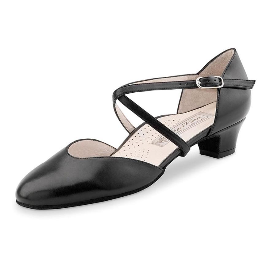 """Chaussures de danse Werner Kern """"Felice"""" 3,4 cm cuir noir"""