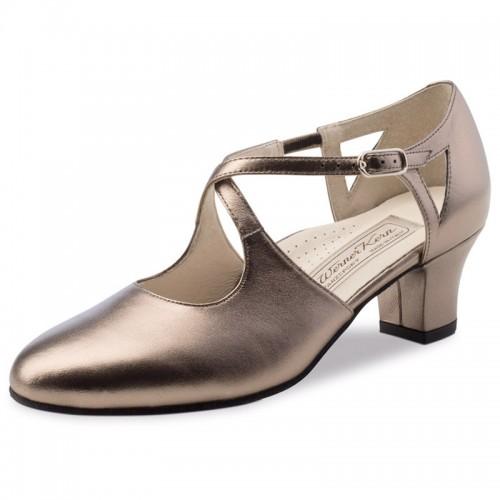 """Chaussures de danse Werner Kern """"Gala"""" 4,5 cm cuir or"""