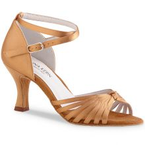 "Chaussures de danse Anna Kern ""Magda"" 6 cm satin bronze"