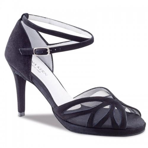 "Chaussures de danse Anna Kern ""Rafaela"" 8 cm daim noir"