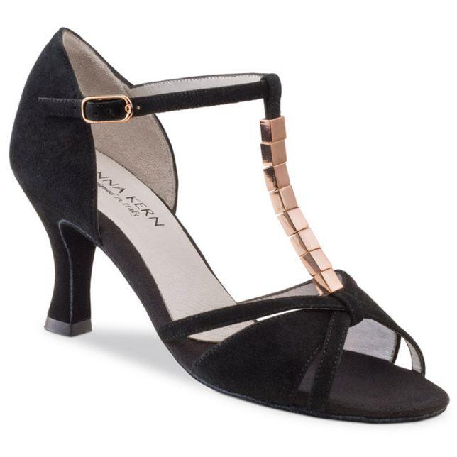 "Chaussures de danse Anna Kern ""Daina"" 6 cm daim noir"