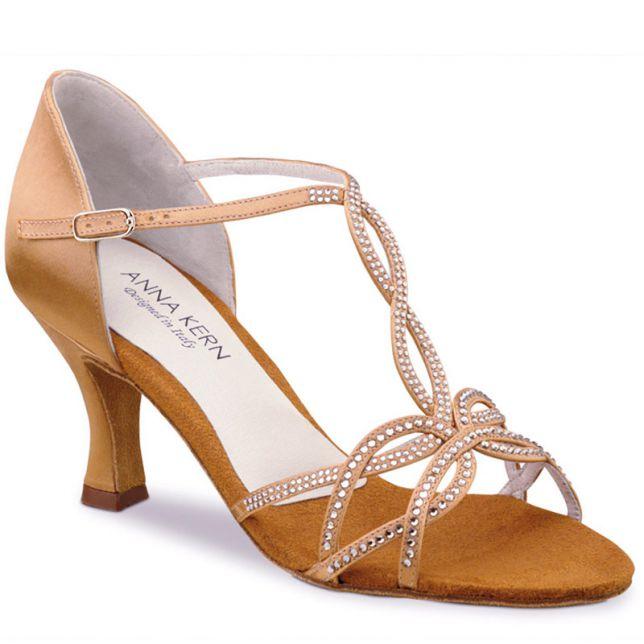 """Chaussures de danse Anna Kern """"Gala"""" 6 cm satin bronze"""