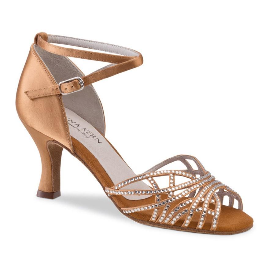 "Chaussures de danse Anna Kern ""Tania"" 6 cm satin bronze"