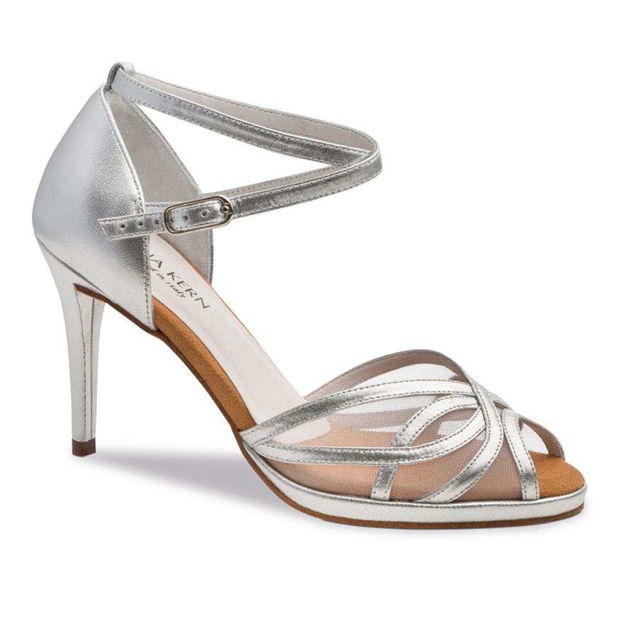 """Chaussures de danse Anna Kern """"Pandora"""" 8 cm cuir argent"""