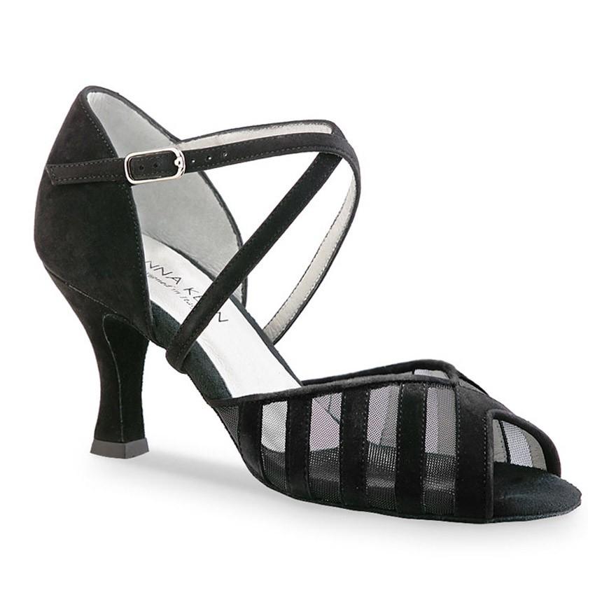 "Chaussures de danse Anna Kern ""Petra"" 6 cm daim noir"