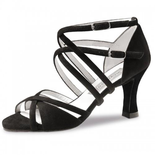 """Chaussures de danse Werner Kern """"Irina"""" 6,5 cm pour pieds étroits daim noir"""