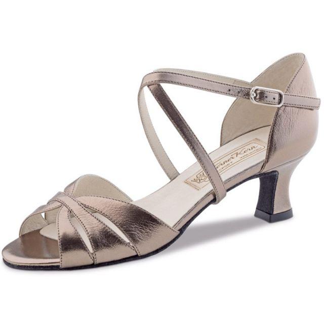 "Chaussures de danse Werner Kern ""Dafné"" 5,5 cm cuir or antique"