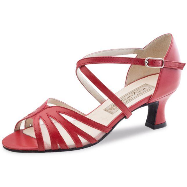 """Chaussures de danse Werner Kern """"Meggy"""" 5,5 cm cuir rouge"""