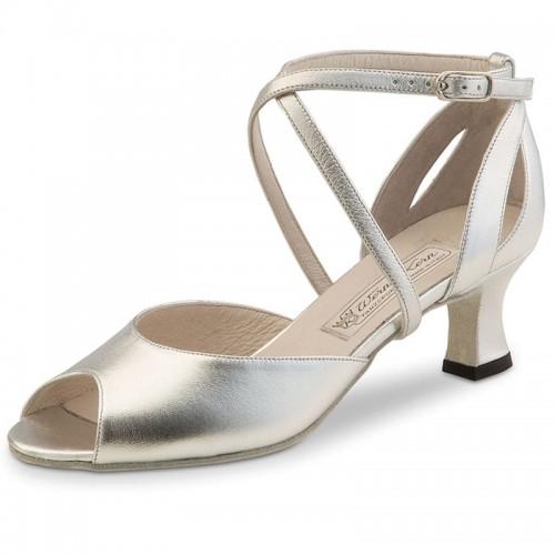 """Chaussures de danse Werner Kern """"Tiziana"""" 5,5 cm cuir argent"""