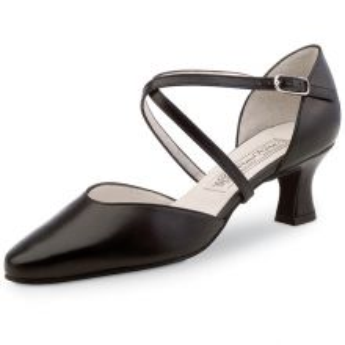 "Chaussures de danse Werner Kern ""Patty"" 5,5 cm cuir noir"