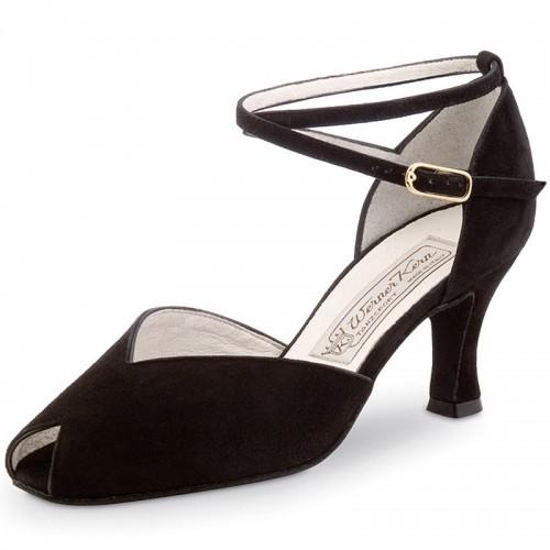 "Chaussures de danse Werner Kern ""Asta"" 6,5 cm daim noir"