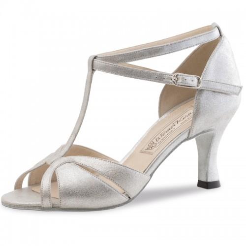 "Chaussures de danse Werner Kern ""Astrid"" 6,5 cm cuir argent"