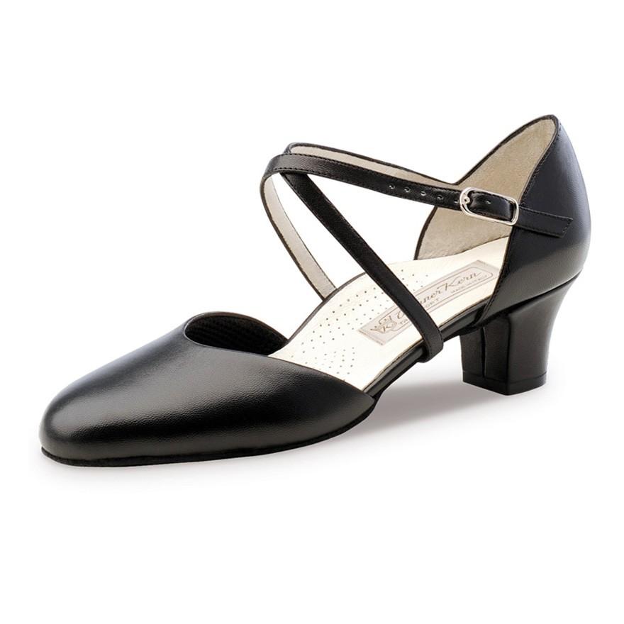 """Chaussures de danse Werner Kern """"Debby"""" 4,5 cm cuir noir"""