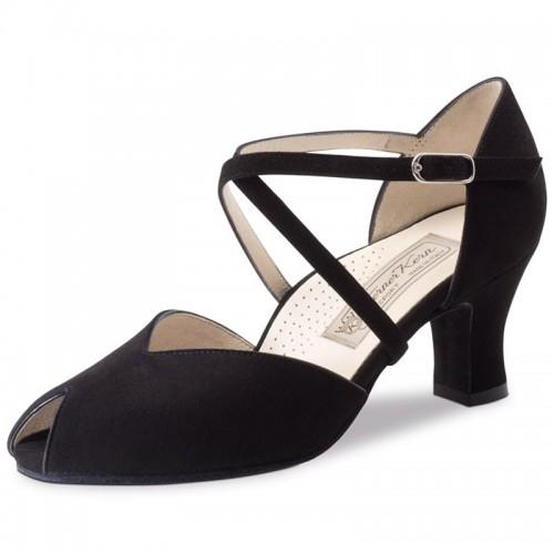 "Chaussures de danse Werner Kern ""Fatima"" 6 cm daim noir"