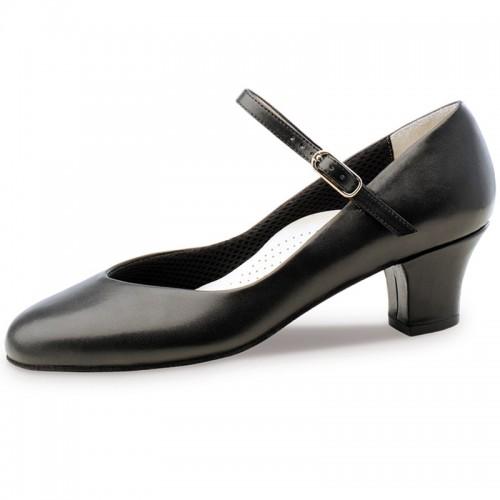 "Chaussures de danse Werner Kern ""Gina"" 4,5 cm cuir noir"