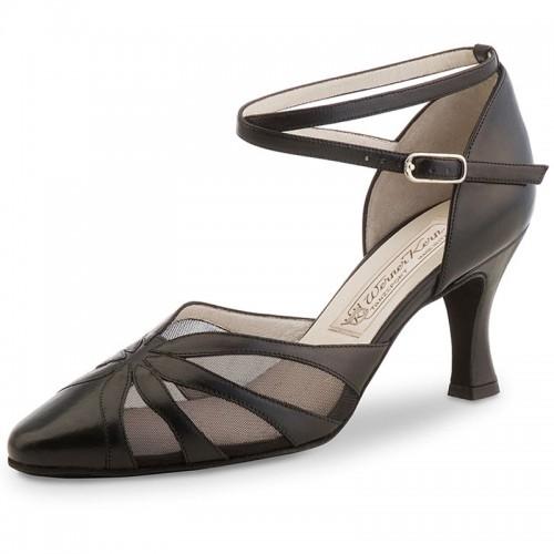 """Chaussures de danse Werner Kern """"Linda"""" 6,5 cm cuir noir"""