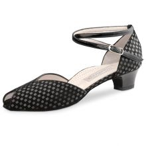 "Chaussures de danse Werner Kern ""Lola"" 3,4 cm quadratino noir"