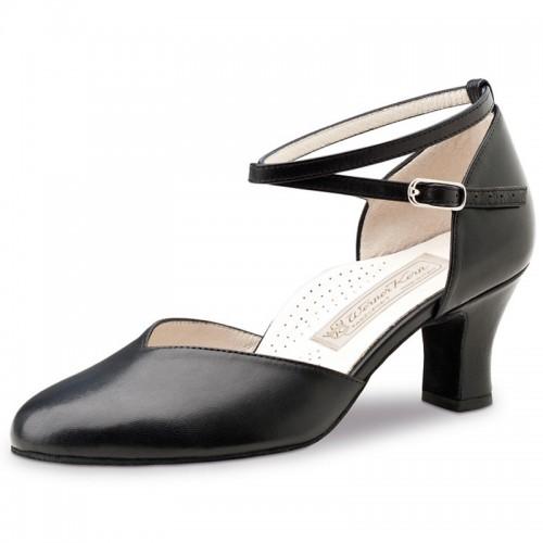 """Chaussures de danse Werner Kern """"Kyra"""" 6 cm cuir noir"""