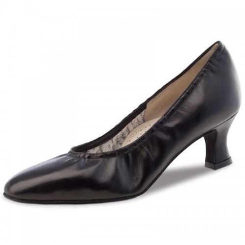 "Chaussures de danse Werner Kern ""Laura"" 4 cm cuir noir"