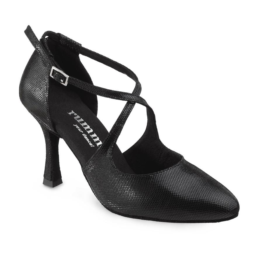 Chaussures pour Tango Argentino Femme en daim noir Talon 7
