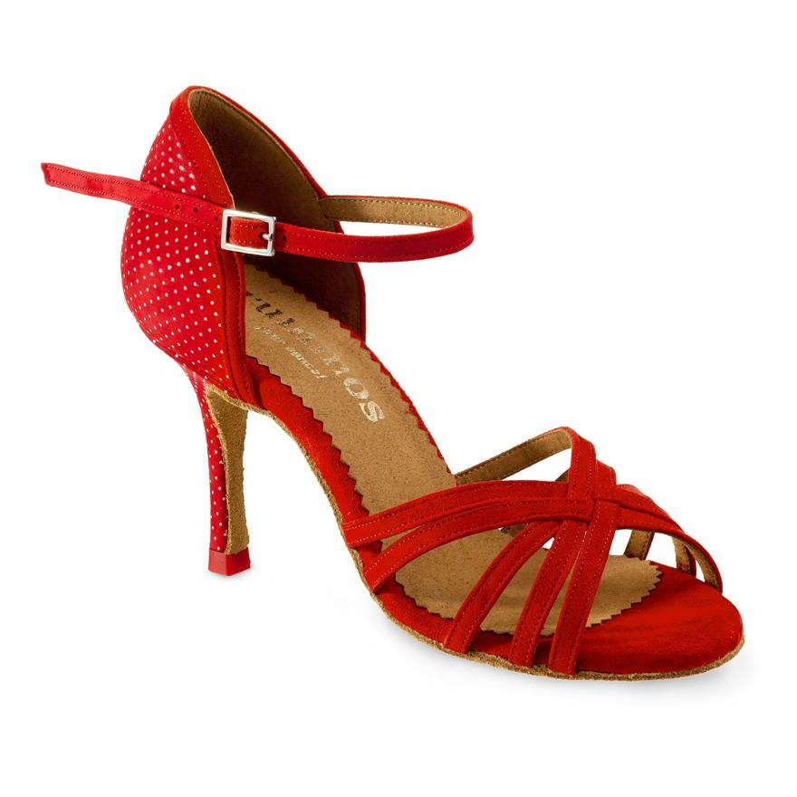 "Chaussures de danse Rummos ""Marylin"" nubuck rouge"