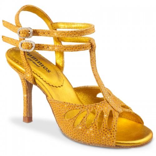 "Chaussures de danse Rummos ""Pasion"" cuir jaune"