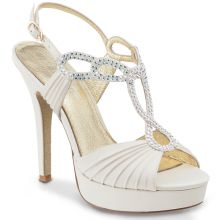 "Chaussures de danse Elite Rummos ""Sophia"" satin blanc ivoir"