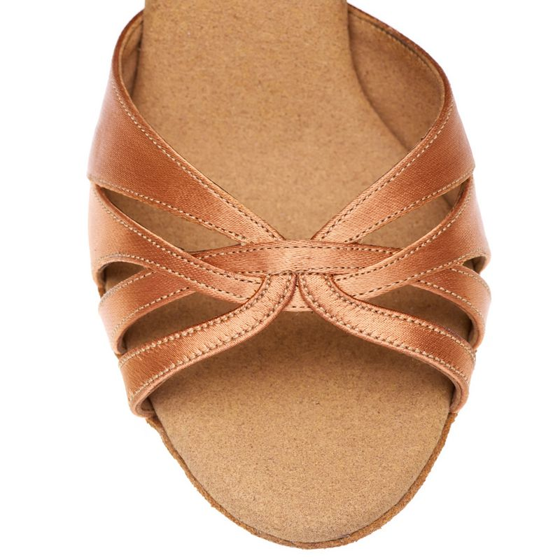 Tan Elite Paris De Chaussures Label Rummos Danse Satin qgTw7