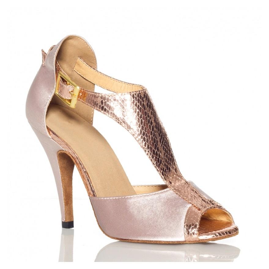 "Chaussures de danse salsa Label Latin ""Anastasia beige"""