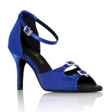 "Chaussures de danse Label Latin ""Strass"" bleu royal"