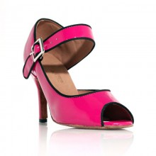 Chaussure de danse Rétro Chic Rose vernis Label Latìn