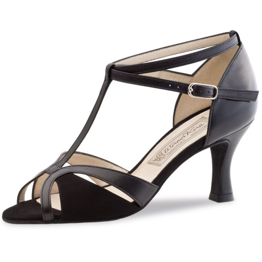 "Chaussures de danse Werner Kern ""Astrid"" 6,5 cm cuir et daim noir"