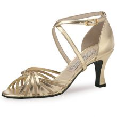 "Chaussures de danse Werner Kern ""Mary"" 6,5 cm cuir or"